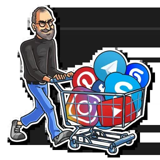 Steve Jobs - Sticker 7