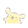 Pompompurin watercolor 2 - Tray Sticker