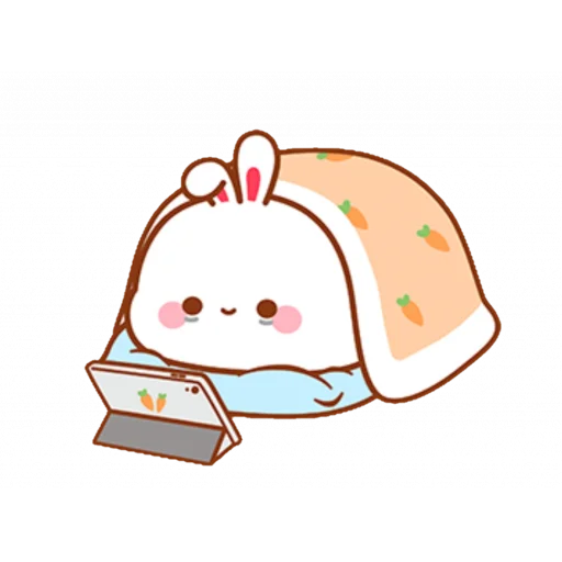 cute rabbit - Sticker 2