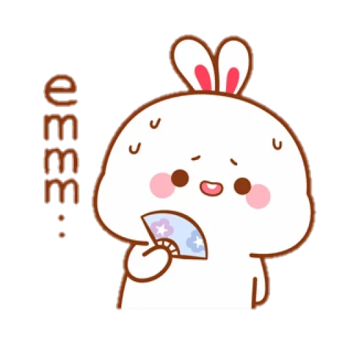 cute rabbit - Sticker 16