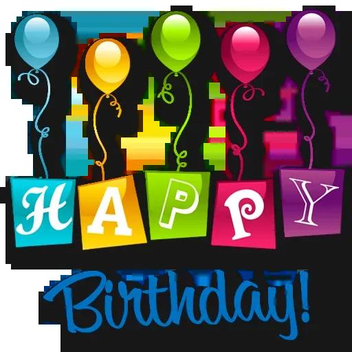 Cake Happy Birthday - Sticker 23