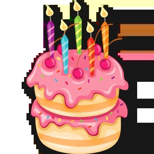 Cake Happy Birthday - Sticker 26