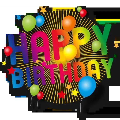 Cake Happy Birthday - Sticker 22