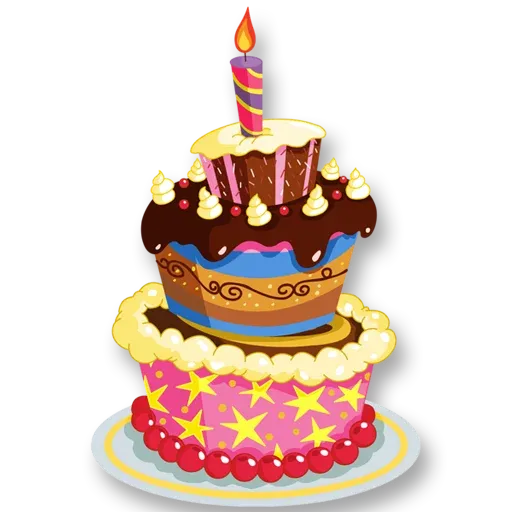 Cake Happy Birthday - Sticker 2