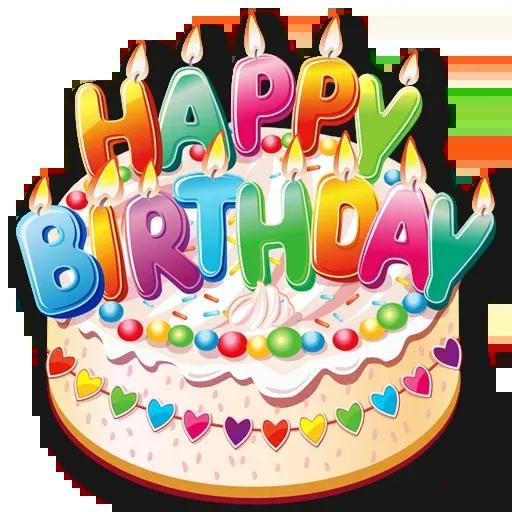 Cake Happy Birthday - Sticker 25