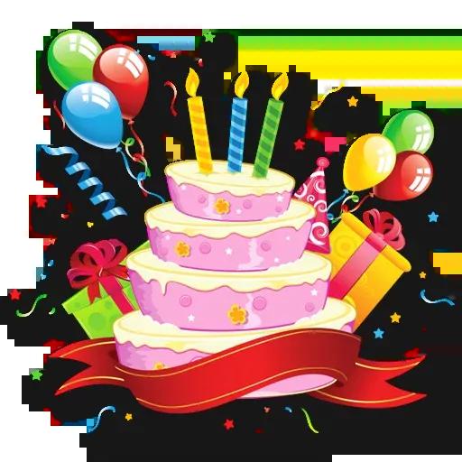 Cake Happy Birthday - Sticker 17