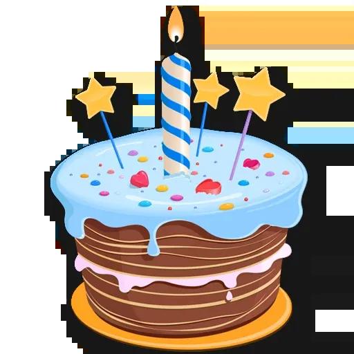 Cake Happy Birthday - Sticker 16