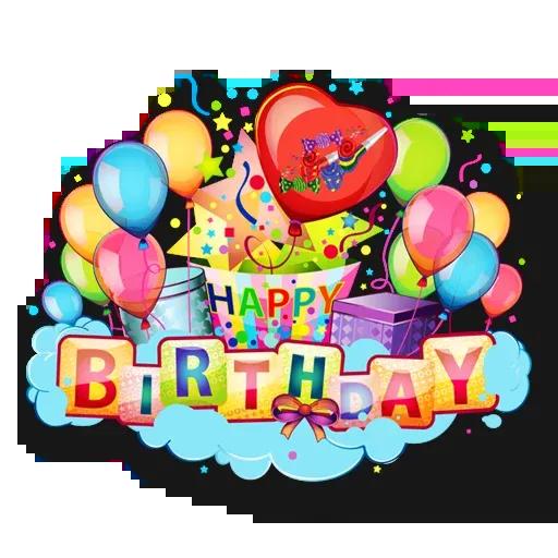 Cake Happy Birthday - Sticker 24