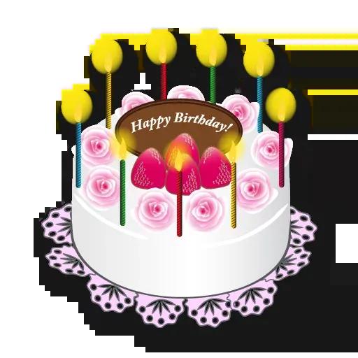 Cake Happy Birthday - Sticker 19