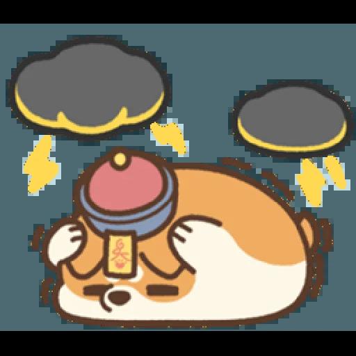 米犬日常—阿飄涼爽2 - Sticker 19