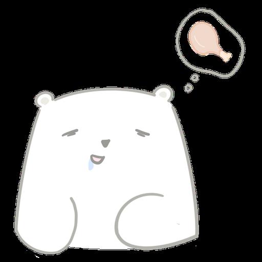 Polar bear Vanilla & Penguin Mochi  - Sticker 8