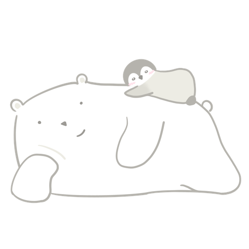 Polar bear Vanilla & Penguin Mochi  - Sticker 2