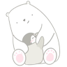 Polar bear Vanilla & Penguin Mochi  - Tray Sticker