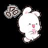 happy rabbit chinese - Tray Sticker