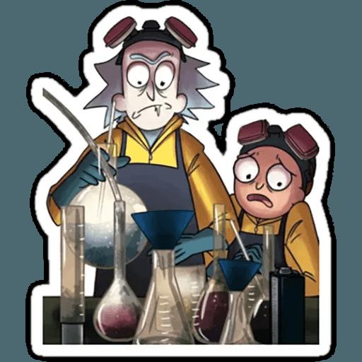 Rick & Morty 1 - Tray Sticker