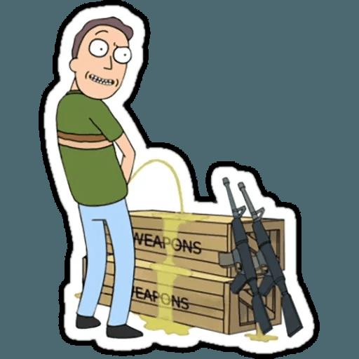 Rick & Morty 1 - Sticker 23
