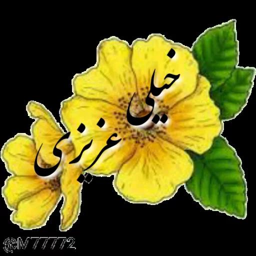 نوشته های طلایی - Sticker 24