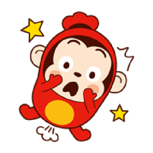 Sausage Monkey! Lovely Cocomong 2 - Sticker 14