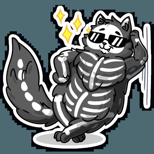 skeleton cat - Sticker 26