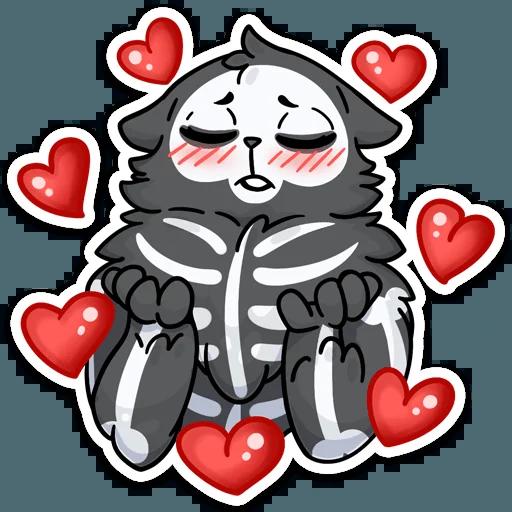 skeleton cat - Sticker 17