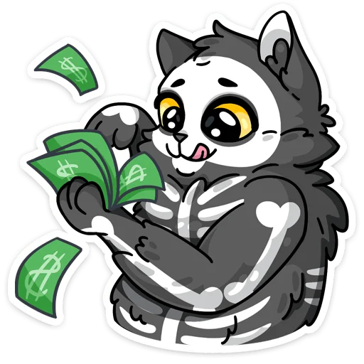 skeleton cat - Sticker 6