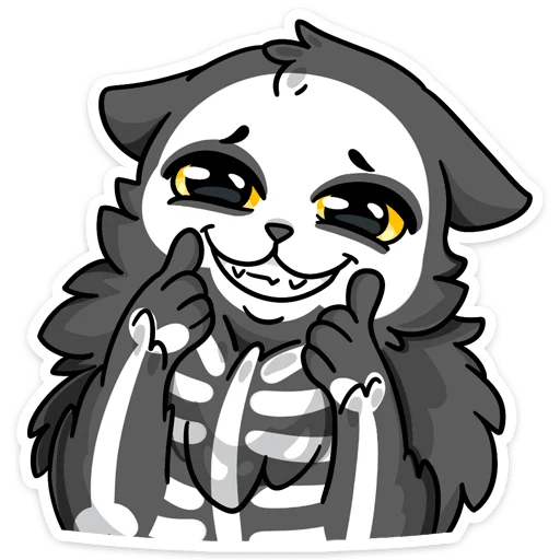 skeleton cat - Sticker 23