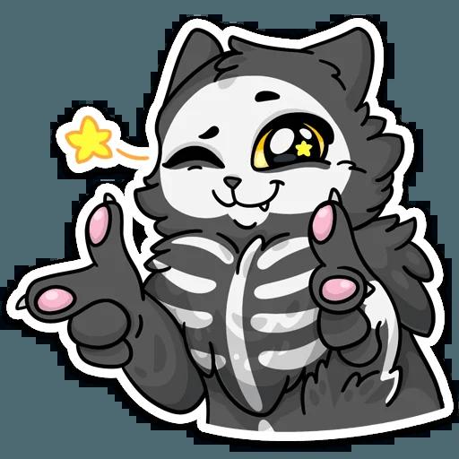 skeleton cat - Sticker 25