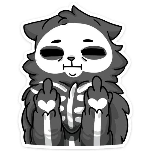 skeleton cat - Sticker 1