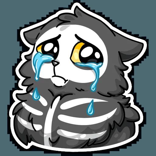 skeleton cat - Sticker 3