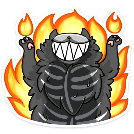 skeleton cat - Sticker 2