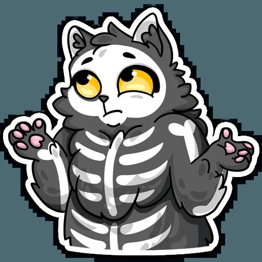 skeleton cat - Sticker 13