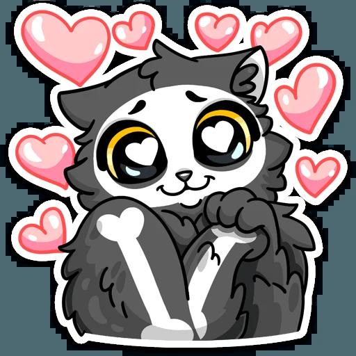 skeleton cat - Sticker 16