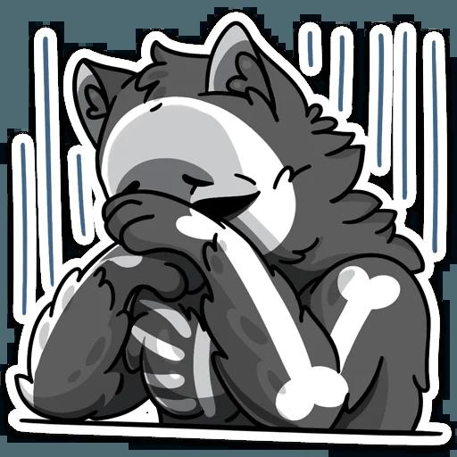 skeleton cat - Sticker 11