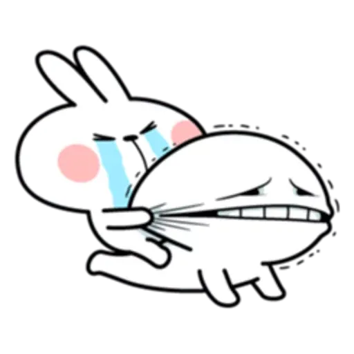 Spoiled rabbit 互相攻擊版 - Sticker 22