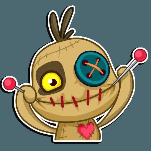 Voodoo Doll - Tray Sticker