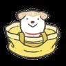 Shiba-Puppy 2 - Tray Sticker