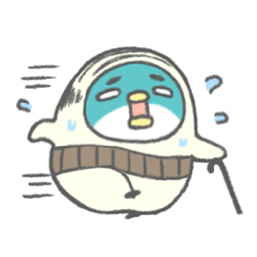 PP mini 小小企鵝 -小老頭 (2) - Sticker 8