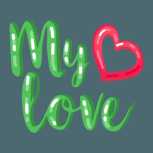 My Love - Sticker 28