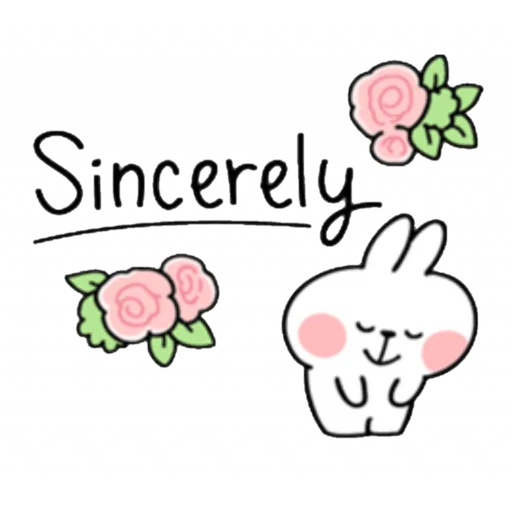 Spoiled rabbit kind word 2 - Sticker 8