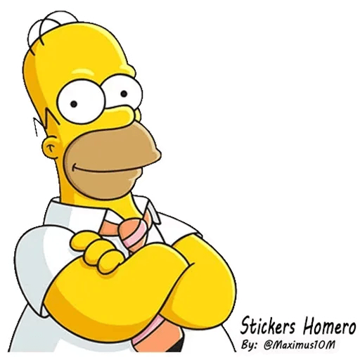 Homer Simpson - Tray Sticker
