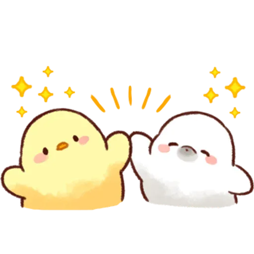 Soft and Cute Chick 3 - Sticker 1