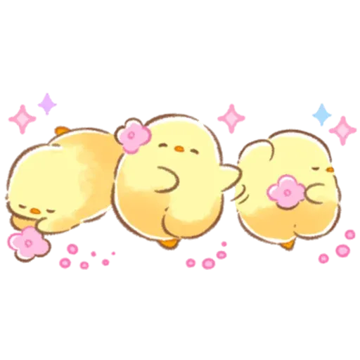 Soft and Cute Chick 3 - Sticker 27
