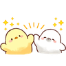 Soft and Cute Chick 3 - Tray Sticker