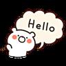 Bear Speech - Tray Sticker