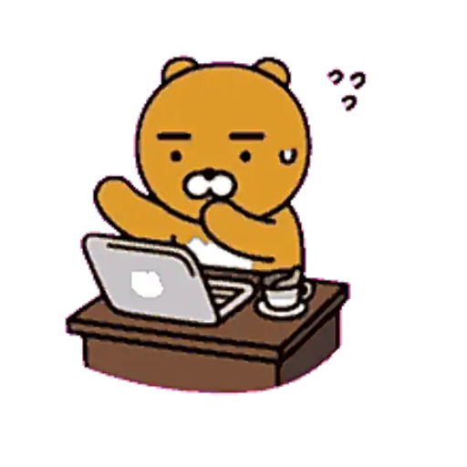 Kakao friends - Ryan - Sticker 1
