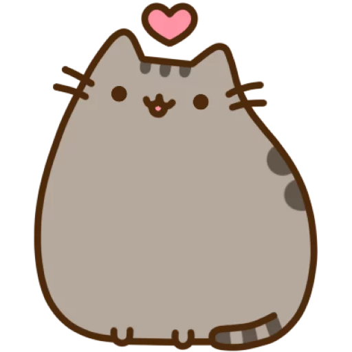 Pusheen 1 - Tray Sticker