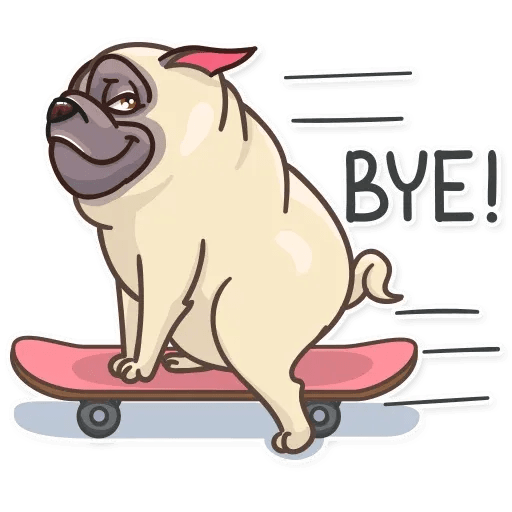 Pug Power - Sticker 20
