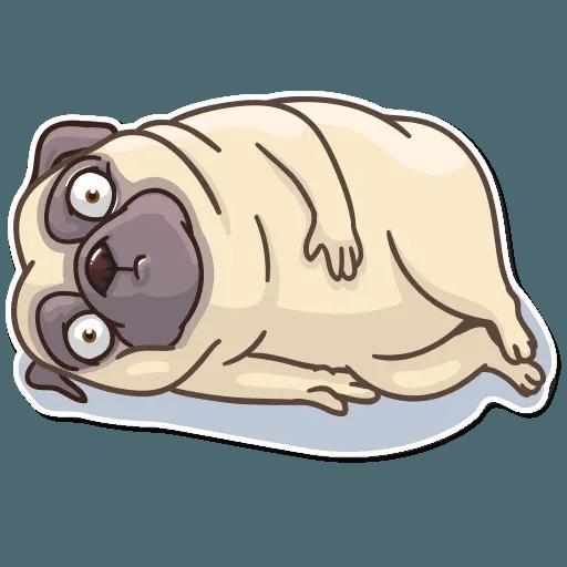Pug Power - Sticker 22