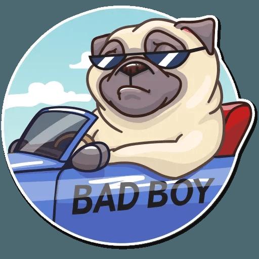 Pug Power - Sticker 26