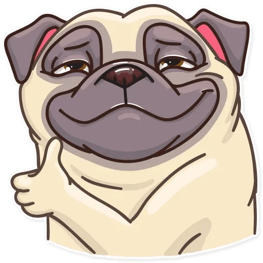 Pug Power - Sticker 4